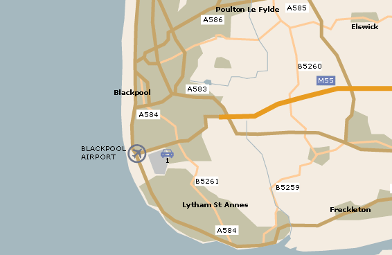 Blackpool Airport Map - Blackpool map