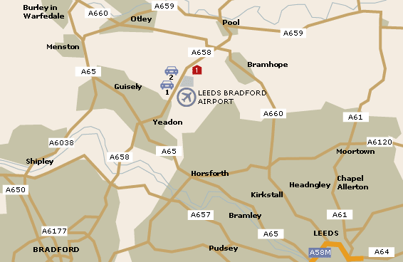 Leeds Bradford Airport Map