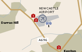Newcastle Airport UK
